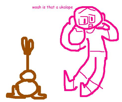 drawing of a ukalope, pertaining to ukuleles, ukeleles, ukaleles, ukuleles of felton, felton, ukalope, ukelope, ukalope, uke-a-lope, cryptozoology, cryptids, criptids, ukulele jackalope, jackalopes
